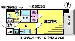 T's SQUARE 大阪城[11階]の間取り
