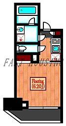 JR山手線 代々木駅 徒歩5分の賃貸マンション 11階1Kの間取り