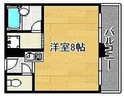平野エアクリアロイヤルハイツ[407号室]の間取り