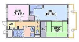 ライオンズマンション桂川久世 703号[703号室]の間取り