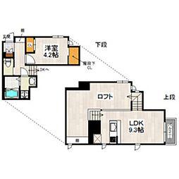 西鉄天神大牟田線 雑餉隈駅 徒歩7分の賃貸アパート 2階1LDKの間取り