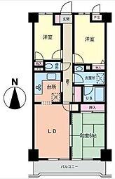 ライズウィステリア[5階]の間取り