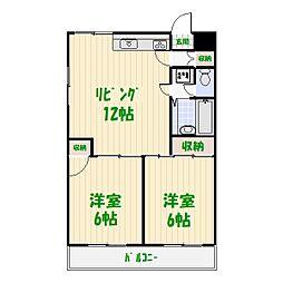 東京都葛飾区東金町7丁目の賃貸マンションの間取り