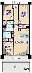 インペリアルガーデン[1階]の間取り