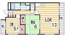 グリーンメゾン弐番館[2階]の間取り
