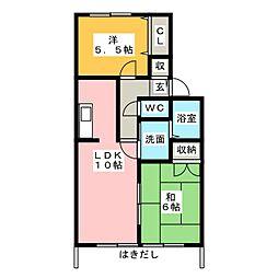 メゾンプレミール[1階]の間取り