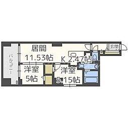 MODENA FINEST[4階]の間取り