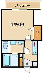 ラグゼ尼崎WEST 9階1Kの間取り