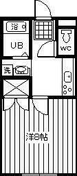 サンライズ岸田2003[202号室]の間取り