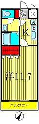 CARROTII[1階]の間取り