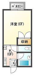 岩田ハイツII[2階]の間取り