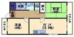 門真元町マンション[2階]の間取り