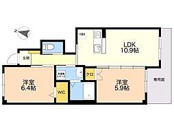 (仮称)四箇6丁目新築賃貸アパート 1階2LDKの間取り