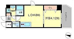 ワールドアイ大阪緑地公園[5階]の間取り