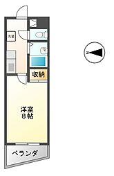ケーエム泉[6階]の間取り