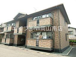 岡山県岡山市中区平井の賃貸アパートの外観