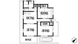 [テラスハウス] 兵庫県宝塚市伊孑志2丁目 の賃貸【/】の間取り