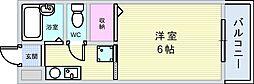 大阪府豊中市曽根西町1丁目の賃貸アパートの間取り