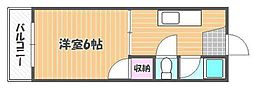 オキマンション[2階]の間取り