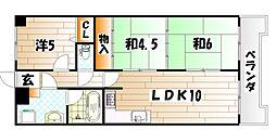 曽根スカイマンション[6階]の間取り