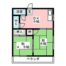 白塚ハイツ[2階]の間取り