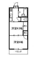 レジデンス 江光[207号号室]の間取り