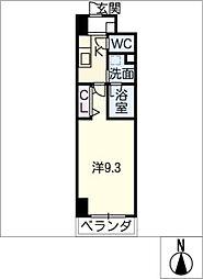 パークフラッツ新栄[8階]の間取り