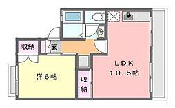 コーポ小倉[1階]の間取り