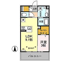 シティハウス高萩 2[2階]の間取り