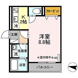 D-roomラ・ヴィレッタ茅ヶ崎[2階]の間取り
