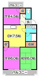 プレミール東所沢[3階]の間取り