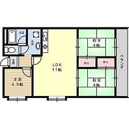 メゾン塚原II[4階]の間取り