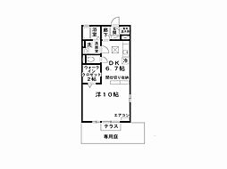 兵庫県姫路市別所町佐土新の賃貸アパートの間取り