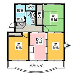 グリーンハイツ青葉台[3階]の間取り