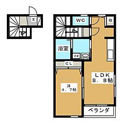 クレストVII[2階]の間取り