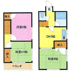 [テラスハウス] 埼玉県さいたま市浦和区本太2丁目 の賃貸【/】の間取り