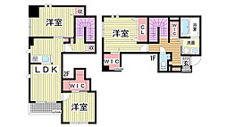 [テラスハウス] 兵庫県神戸市灘区城の下通2丁目 の賃貸【/】の間取り
