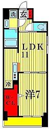 K・Sガーデン 柏の葉キャンパス 3階1LDKの間取り