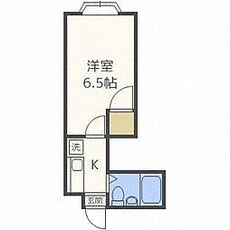 セゾンコートイースト[4階]の間取り
