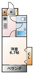 兵庫県西宮市甲子園町の賃貸マンションの間取り