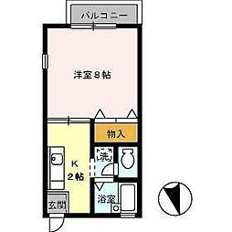 セザール昭和[102号室]の間取り