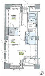 JR山手線 大塚駅 徒歩9分の賃貸マンション 3階1SLDKの間取り