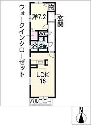 クラベ−ル稲口[2階]の間取り