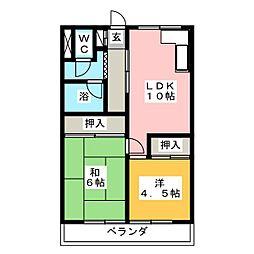 関谷ハイツ[3階]の間取り