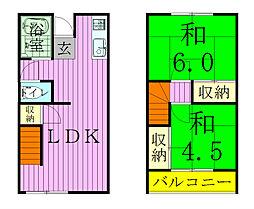 [タウンハウス] 千葉県流山市流山8丁目 の賃貸【/】の間取り