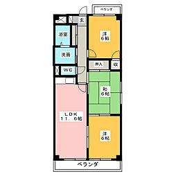 ドミールM[2階]の間取り