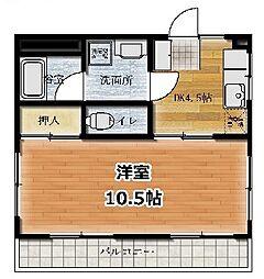 高橋マンション 3階1LDKの間取り