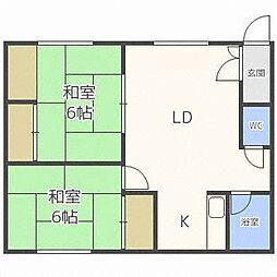 東栄ハウス[1階]の間取り