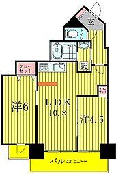 G-1 BILD.(G-1ビルディング)[6階]の間取り