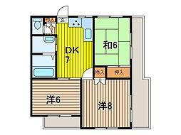 ハイムフクダ[2階]の間取り